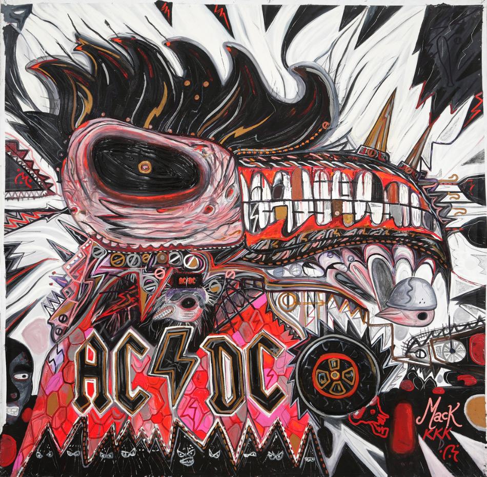Abdul Vas AC/DC San Antonio. AC/DC Original Artwork