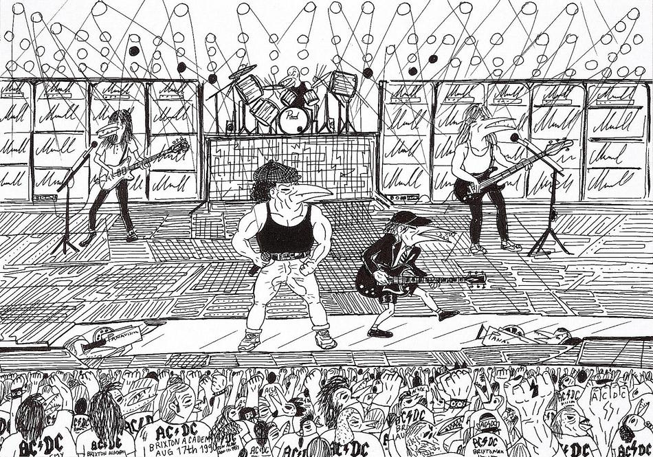 Abdul Vas AC/DC Thunderstruck. AC/DC Original Artwork