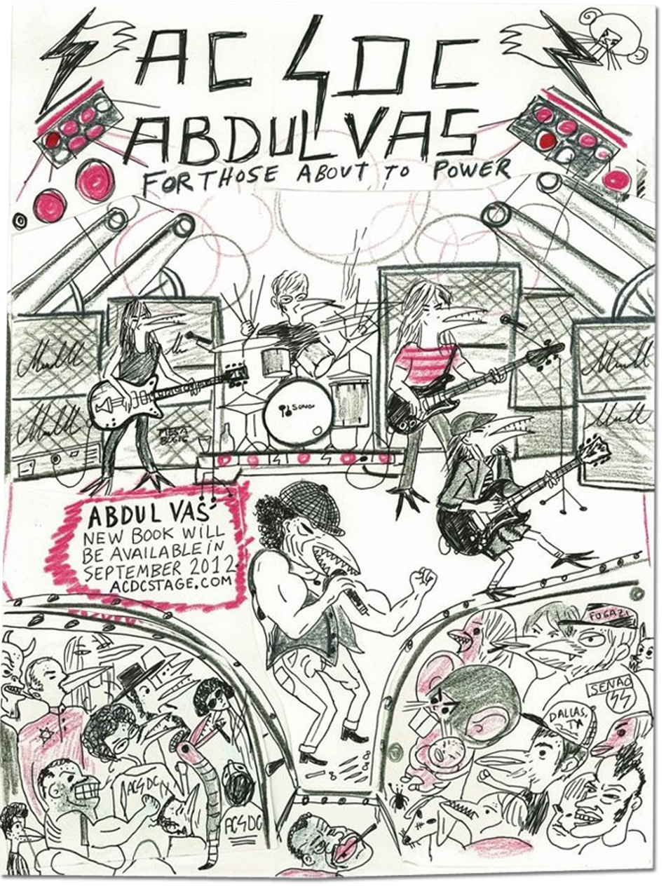 Abdul Vas For Those About To Power Adamastor Inc. AC/DC Original Artwork