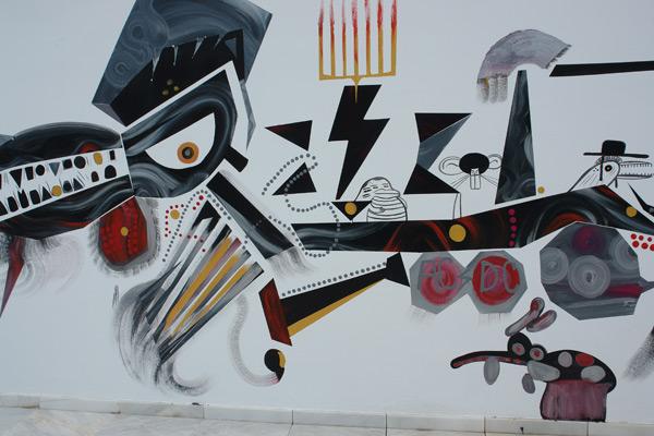 Abdul Vas On Painting Mural