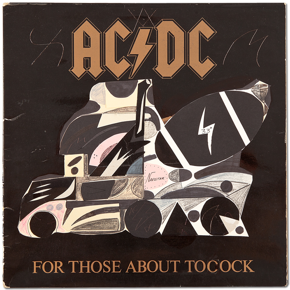 Abdul Vas For Those About to Cock. AC/DC Original Artwork