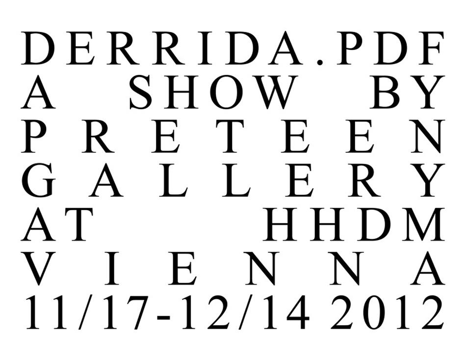 Abdul Vas Preteen Gallery Derrida