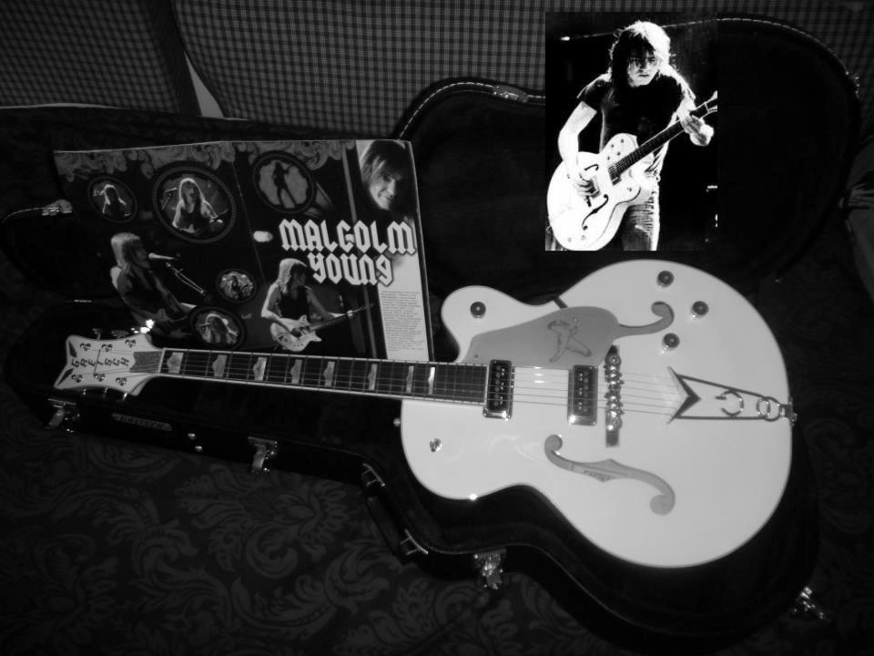 Abdul Vas White Falcon Gretsch Guitar